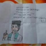 Surat dari anak SD Kelas II untuk UAS (@ustadzabdulsomad)