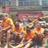 Pelaku begal yang berhasil dibekuk Polres Lumajang. (Foto: Pawitra/JatimTIMES)