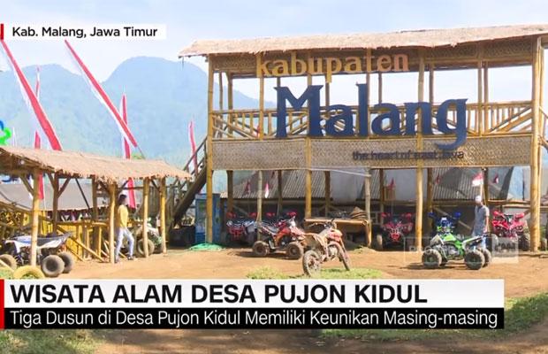 screenshot video Sawah destinasi wisata ini berada di Desa Pujon Kidul (youtube)