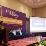 Plt Kepala KPBI Malang Taufik Saleh saat membuka kegiatan Forum Ekonomi Malang Raya (FEM) 2018 di Ijen Suites. (Foto: Nurlayla Ratri/MalangTIMES)
