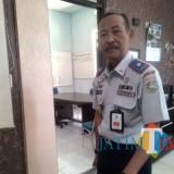 Hafi Lutfi Kadishub Kabupaten Malang saat menyampaikan giat sosialisasi door to door ke PO di Kabupaten Malang (foto: Nana/ MalangTIMES)
