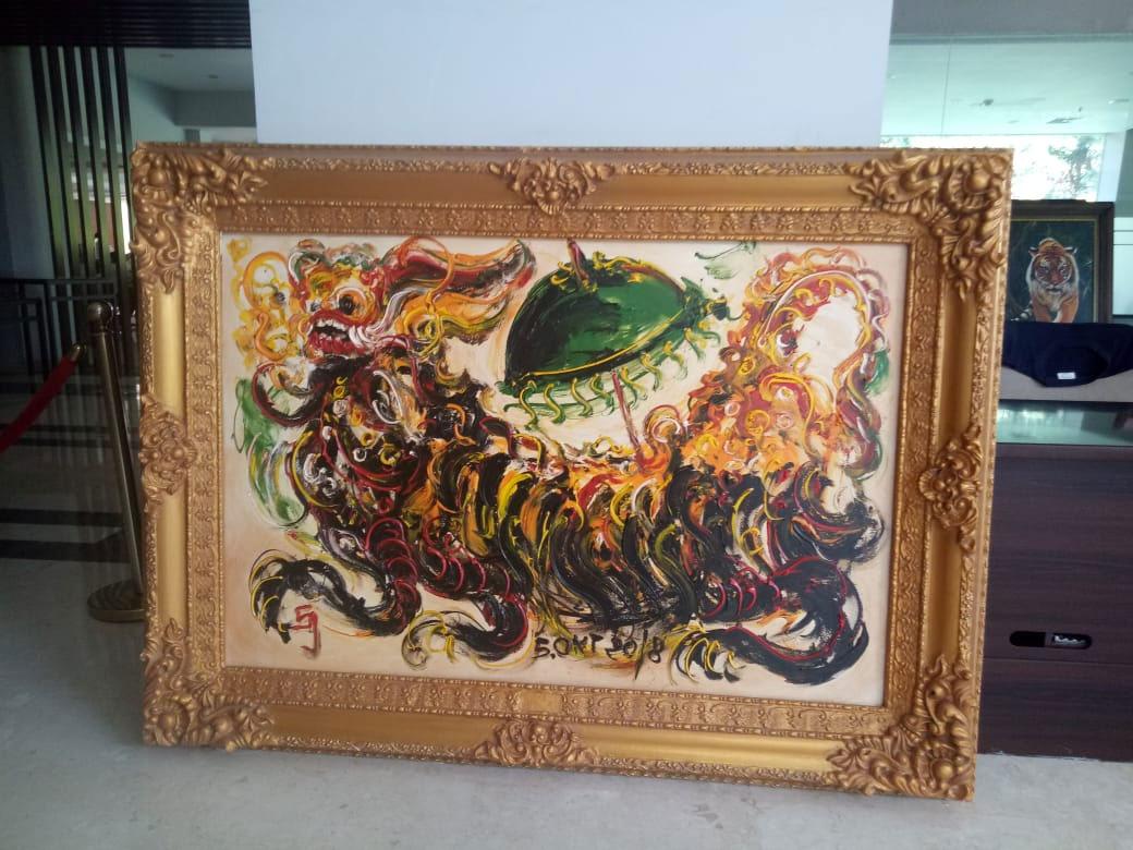 Agama Budaya Dan Seni Dibuat Dalam Waktu 15 Menit Lukisan Ini Itu Tampak Gambar Leak Payung Khas Bali Kalau Dilihat Dari Gaya Lukisannya Seperti Maestro Lukis Indonesia Affandi