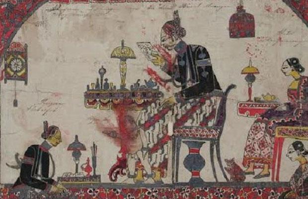 Lukisan Pangeran Diponegoro bersama para istrinya. (Ist)