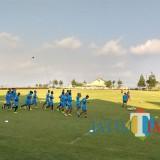 Persiapan pemain Arema FC sebelum menghadapi Bali United (Hendra Saputra)