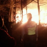 Kebakaran kandang ayam di Desa Plosorejo Kademangan.(Foto : Humas Polres Blitar)