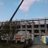 Pembangunan Rusunawa ASN anti gempa DPKPCK Kabupaten Malang di Block Office Kepanjen (foto: Nana/ MalangTIMES)
