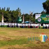 Situasi upacara bendera peringatan Hari Santri di Alun-Alun Situbondo. (Foto Heru Hartanto / Situbondo TIMES)