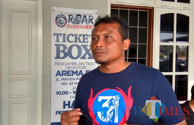 Asisten pelatih Arema FC, Kuncoro saat ditemui di Kandang Singa (Hendra Saputra)