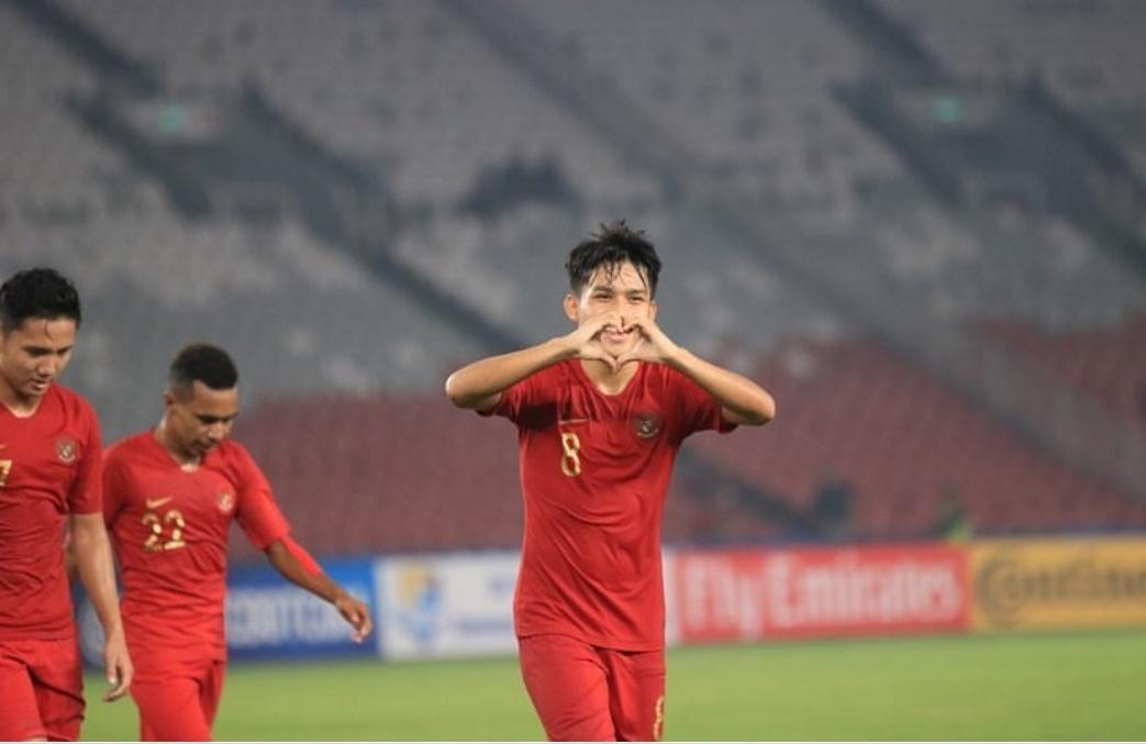 Pencetak satu-satunya gol Indonesia ke gawang UEA, Witan Sulaiman (instagram)