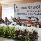 Konferensi pers Seleksi Masuk PTN 2019. (foto: Ristekdikti)