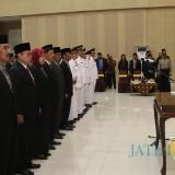 Wali Kota Batu saat melakukan pelantikan kepada 181 pejabat di Graha Pancasila Balai Kota Among Tani beberapa saat lalu. (Foto: istimewa)