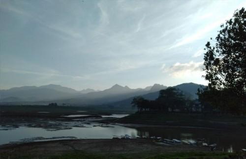 Kondisi Waduk Selorejo yang mengalami penurunan debit air setiap dua jam, Kecamatan Ngantang (Foto : Istimewa)
