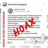 Postingan yang menjadi viral di media sosial di Tulungagung (Foto : Dokpol / TulungagungTIMES)