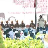 Wali Kota Risma saat menjadi pemateri sekolah kebangsaan