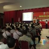 Acara Sosialisasi pencegahan pungli yang diikuti babinkamtibmas se Karesidenan Besuki (foto : Moh. Ali Makrus / Jatim TIMES)