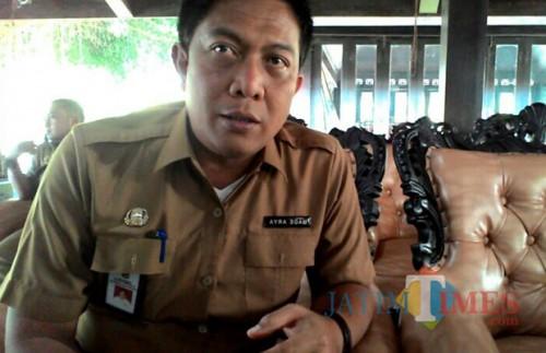 Kadisparbud Kabupaten Malang Made Arya Wedanthara menyampaikan pihaknya telah layangkan surat protes tentang air terjun Coban Sewu. (Nana)