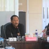Agus Riyanto, ketua komisi 3 DORD Kota Probolinggo saat hearing bersama Disnakertrans dan menejemen PT SKI beberapa minggu lalu (Agus Slam/Jatim TIMES)
