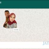 Ilustrasi, tangkapan layar stiker personal di aplikasi perpesanan WhatsApp. (Foto: Dokumen MalangTIMES)