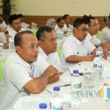 Para anggota BPD saat mengikuti Bimtek Optimalisasi dan Fungsi Anggota BPD di Hotel Mirah Banyuwangi, Rabu (31/10/18).