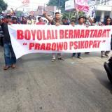 Aksi demo warga Boyolali atas isi pidato Prabowo yang dirasa merendahkan harkat masyarakat daerah tersebut.(Ist)