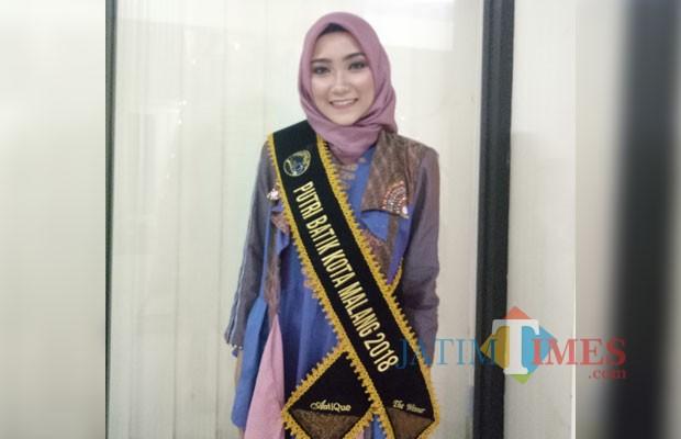 Putri Batik Kota Malang 2018 Akrima Fahma (foto: Imarotul Izzah/Malang Times)