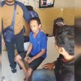 Budi Setyawan saat diamankan polisi di Klaten, Jawa Tengah.