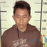 Wiryono tersangka pencuri sepeda motor saat diamankan polisi ketika mengadakan giat Oprasi Zebra Semeru 2018, Kecamatan Lawang (Foto : Polsek Lawang for MalangTIMES)
