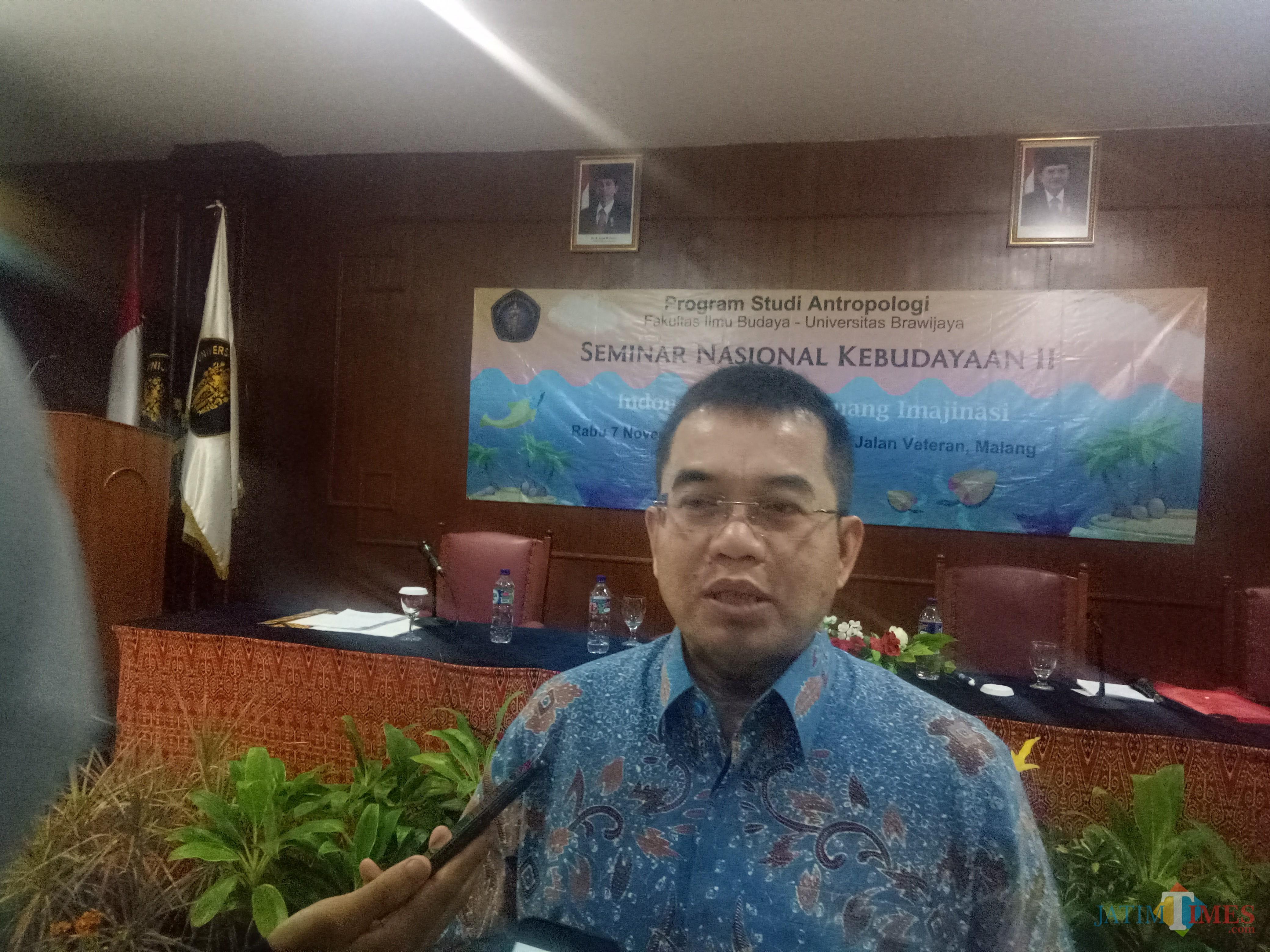 Mantan Kepala Badan Pembinaan Ideologi PancasilaYudi Latief PhD (foto: Imarotul Izzah/Malang Times)
