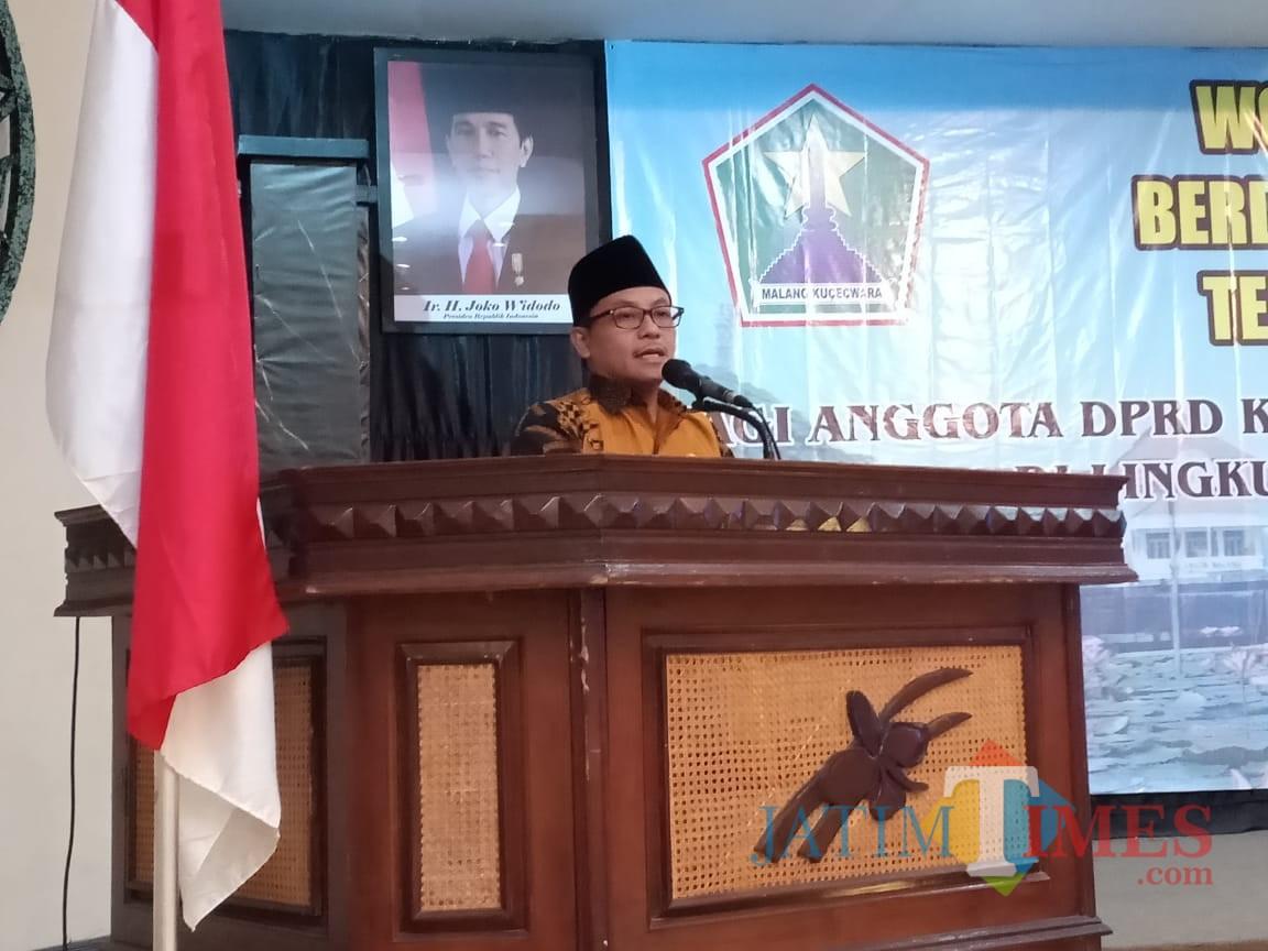 Wali Kota Malang Sutiaji saat membuka kegiatan sinergitas Pemkot Malang dan DPRD Kota Malang. (Foto: Humas Pemkot Malang for MalangTIMES)