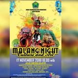 Poster Malang Night Culture and Art (Dinas Pariwisata dan Kebudayaan Kota Malang).