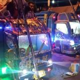 Beberapa truk miniatur di event Desa Kebonagung. (Foto: Pawitra/JatimTIMES)