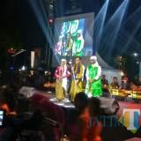 Wali Kota Malang, Drs Sutiaji saat berada di panggung Festival Mbois 3 (Hendra Saputra)
