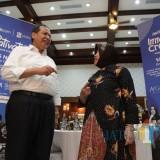 Founder and Chairman CT Corp Chairul Tanjung di kediaman Wali Kota Risma