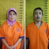 Tersangka Usniyah dan Hedi Purnomo, pelaku perampokan bermotif hutang piutang