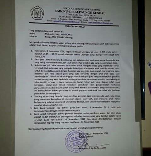 Gubernur Jateng Minta Video Murid Keroyok Guru Tua Diusut