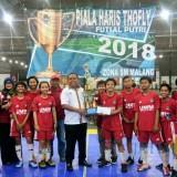 Bungkam Adipati Lamongan, Putri UMM A Juara Futsal Putri Piala Haris Thofly 2018
