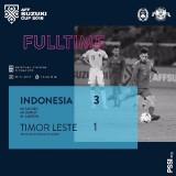 Skor akhir Indonesia vs Timor Leste (instagram)