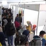Suasana Job Fair Pemkot Malang yang digelar di aula Skodam Brawijaya Malang. (Foto: Nurlayla Ratri/MalangTIMES)