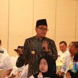 Wali Kota Malang Sutiaji saat memberi paparan dalam kegiatan sinkronisasi RTRW dan RPJMD di Hotel Atria Malang. (Foto: Dokumen MalangTIMES)