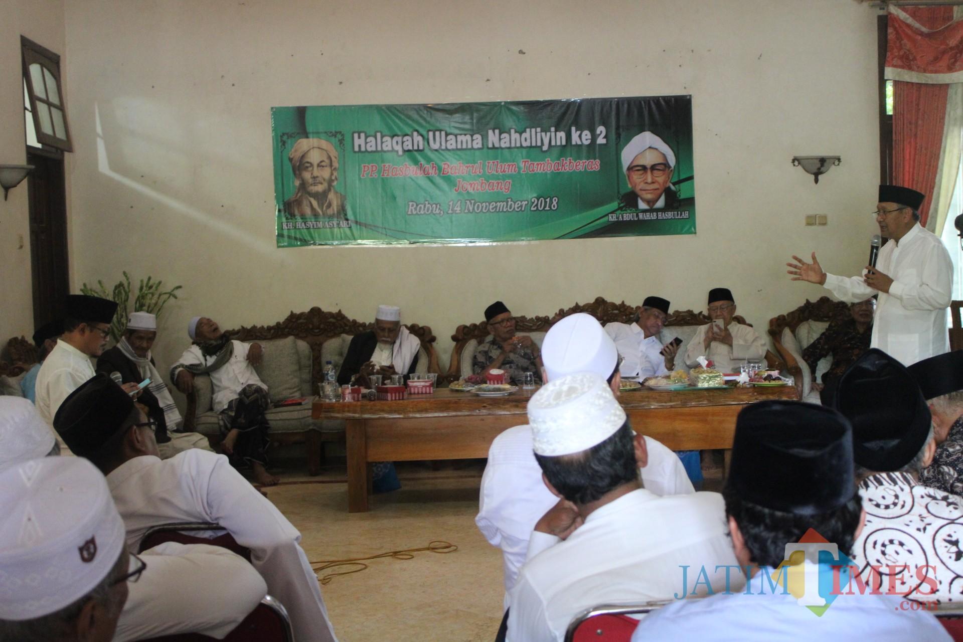 Suasana Halaqah Ulama Nahdliyin ke-2 di PP Bahrul  Ulum Tambakberas Jombang. (Foto : Adi Rosul / JombangTIMES)