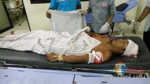 Korban dirawat di rumah sakit.(Foto : Humas Polres Blitar Kota for BlitarTIMES)