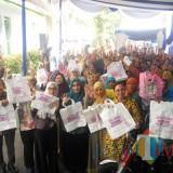Suasana saat launching gerakan kantong belanja dari rumah (Anggara Sudiongko/MalangTIMES)