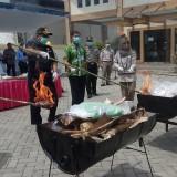 Petugas Balai Karantina melakukan Pemusnahan benih kiriman luar negeri