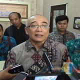 Kepala BKN Bima Haria Wibisana usai melakukan tinjauan tes CPNS di Kota Malang. (Foto: Nurlayla Ratri/MalangTIMES)