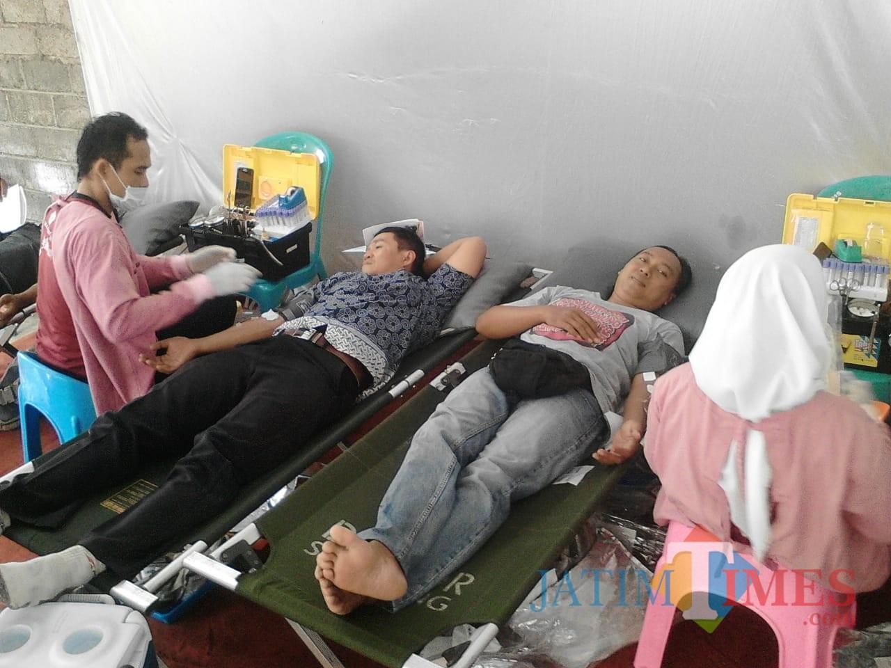 Situasi saat bhakti sosial donor darah sekaligus peresmian KDS