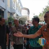 Suasana peninjauan tes CPNS di Kota Malang oleh Kepala BKN Bima H Wibisana. (Foto: Nurlayla Ratri/MalangTIMES)