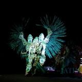 Kostum yang ditampilkan dalam gelaran Malang Night Culture And Art di Simpang Balapan Kota Malang, Sabtu (17/11/2018) (Pipit Anggraeni/MalangTIMES).
