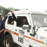 Wakil Bupati Malang H M Sanusi saat meresmikan pemberangkatan Marines Adventure Off Road (MAO) di Pusat Latihan Tempur (Puslatpur) Marinir Purboyo, Kecamatan Bantur (Foto : Ashaq Lupito / MalangTIMES)