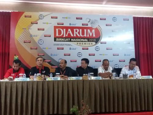 Konferensi pers Sirkuit Nasional Premier Jatim Open 2018