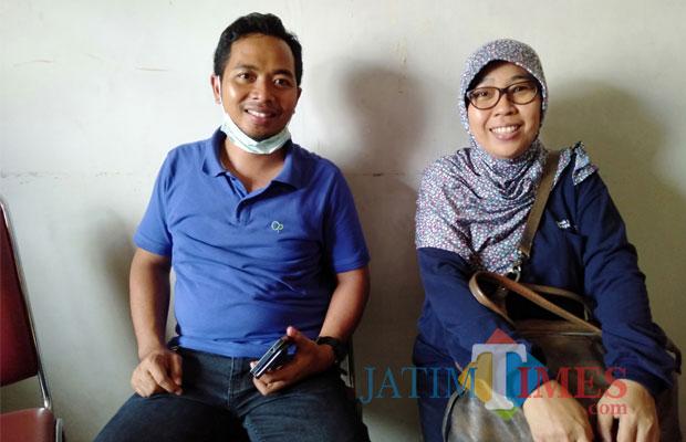 Kasat Reskrim Polres Tulungagung AKP Mustijat Priyambodo dan dr Tutik Purwanti. (foto : Joko Pramono/Jatim Times)
